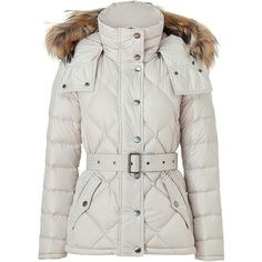 BURBERRY BRIT Light Trench Belted Down Jacket ($1,010) ❤ liked on Polyvore