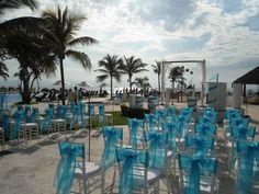 Gorgeous clouds line the sky during your ceremony #DreamsVillamagnaNuevoVallarta #Mexico #Destinationwedding