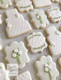 Cupcakes Fondant Boda Bridal Shower 52 New Ideas Fancy Cookies, Iced Cookies, Cookies Et Biscuits, Cupcake Cookies, Sugar Cookies, Cupcake Toppers, Cookie Favors, Fondant Toppers, Favours