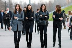 the girls at French vogue nail it all the time........... , black, leather, boots......... it's all good!..... skip the cigarette!