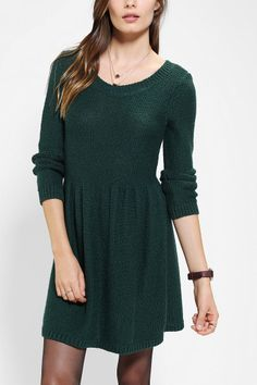 BDG Fit & Flare Sweater Dress