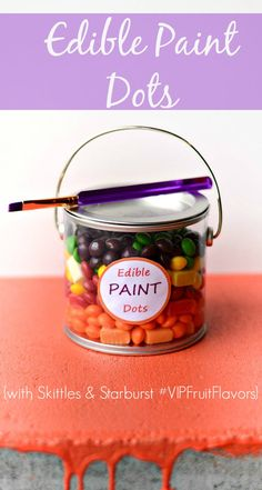 Edible Paint Dots with #VIPFruitFlavors #shop