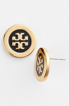 Tory Burch Logo Studs available at #Nordstrom