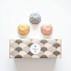 Jewel Soap Gift Set - You're a Gem - 3 Soaps, Boxed and Gift Wrapped #packaging