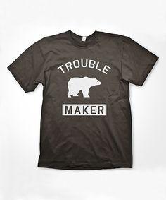 Crazy Dog Black Bear 'Troublemaker' Tee - Boys by Crazy Dog #zulily #zulilyfinds