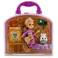 Carry along a fairytale favorite with this Rapunzel Mini Doll Play Set. Inspired by our Disney Animators' Collection dolls this play set includes a glittering Pascal figurine plus art and play acces. Princess Toys, Disney Princess Dolls, Disney Dolls, Princess Sofia, Disney Princesses, Lol Dolls, Barbie Dolls, Toys For Girls, Kids Toys