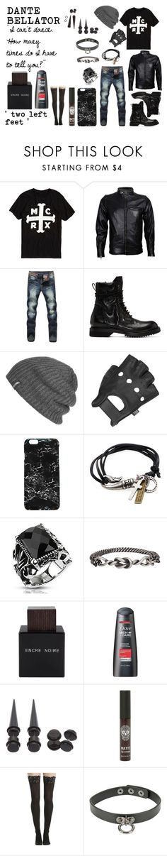 """dante bellator"" by fergusroderickmacleod ❤ liked on Polyvore featuring Hot Topic, VIPARO, Rick Owens, Outdoor Research, Wilsons Leather, Rianna Phillips, Degs & Sal, West Coast Jewelry, Ann Demeulemeester and Lalique"