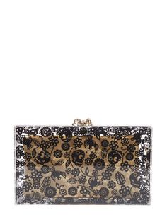 Printed Pandora Box Clutch from The It Brits: Charlotte Olympia on Gilt
