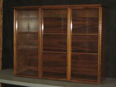 MID CENTURY MODERN LUCITE CURIO WALL SHELF DISPLAY CABINET or ...