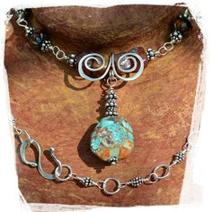 southwestern beauty turquoise, sterling silver necklace