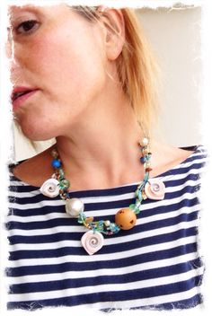 LillyLoop Jewellery ALOHA necklace...perfect with your Breton top..www.lillyloop.co.uk