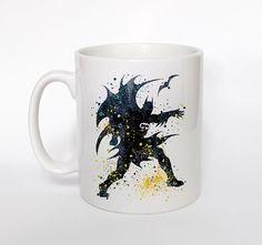 Batman 2 Mug Watercolor Art Cup Coffee Mug Batman Cup by ArtsPrint