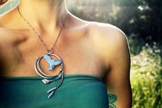 Land Tribute - A Red-Tailed Hawk Necklace (www.umberdove.com #umberdove )