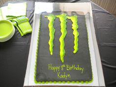 Monster Energy Cake Design