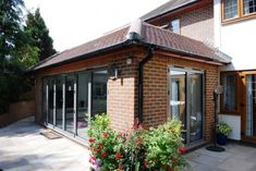 Extension and remodelling of a house in West Byfleet, Surrey Brick Extension, Orangery Extension, Garage Extension, Cottage Extension, Glass Extension, Extension Google, Extension Ideas, Garden Room Extensions, House Extensions