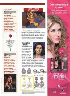 Um produto da Elo7 foi publicado na Revista Ana Maria em matéria sobre um brinco de pérola inspirado em um modelo da Dior.