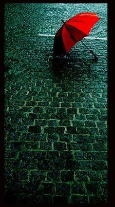 Forgotten  Red umbrella