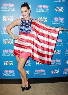 @Sarah Metcalf I know you love all things red white and blue...Katy Perry's American flag dress