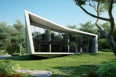 Edge House is a minimalist home located in Vama Bulgaria designed by STARH Stanislavov Architects. Architecture Old, Residential Architecture, Amazing Architecture, Contemporary Architecture, Modern Contemporary, Design Exterior, Interior Exterior, Le Corbusier, Module Design