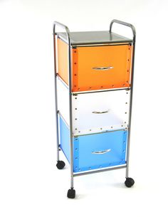 3 Drawer Multi-Colored Chest