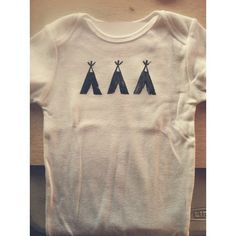 A Fox & A Wolf: stamps and stuff   teepee stamped onesie