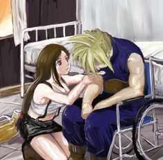 Tifa and Cloud (with mako poisoning). Just. I can't. *cries in the corner*