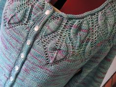 Ravelry: Project Gallery for Leaf Yoke Cardigan pattern by Ashley Rao