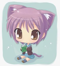 anime chibi wolf kawaii cat