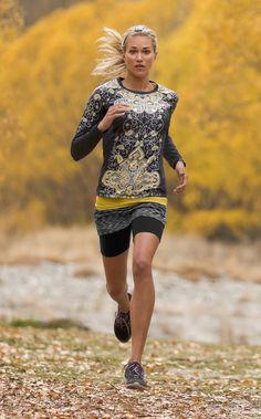 Long Sleeve Runaway Top + Stride Tank + Space Dye Contender Skort | Athleta Fall 2012 Collection MVP
