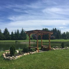 The trellis that can be used and decorated for wedding ceremony. Outdoor Wedding Venues, Wedding Ceremony, Pine Beds, Beautiful Sunrise, Lake View, Bed And Breakfast, Trellis, Hamilton, Pergola