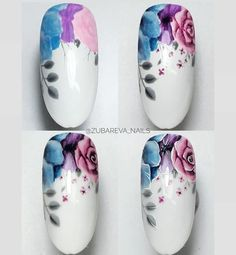 Spring Nail Designs - My Cool Nail Designs Fingernail Designs, Gel Nail Art, Nail Designs Spring, Cool Nail Designs, Cute Nails, Pretty Nails, Water Color Nails, Nail Designer, Diva Nails