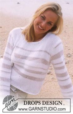 DROPS Pullover in Paris and Cotton Viscose ~ DROPS Design