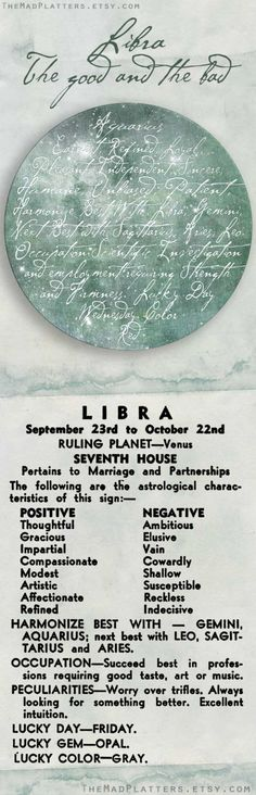 Libra's astrological characteristics on Plate by TheMadPlatters