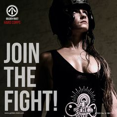 Golden-Rivet Hard Corps gymwear - custom hand printed designs. JOIN THE FIGHT!