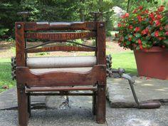 """Antique """" American Washing Wringer Co """" Wringer Improved Eclipse No B5 1888   eBay"""