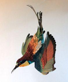 oiseau papier 14 582x700 Des oiseaux en papier divers bonus art