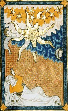 Connubio spirituale - miniatura dai Cantici di Rothschilde - XIV secolo