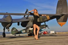 Doll: Lauren with 2 Equally amazing Air Craft,.. the P-38 Lightening and the P-40 Warhawk!!!!