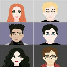 Personagens principais de TMI.