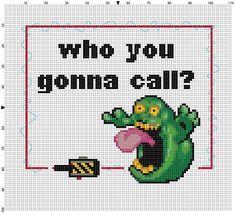 Wer Sie anrufen GHOSTBUSTERS Cross Stitch von SnarkyArtCompany
