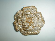 vintage nolan miller gold plated pave by fadedglitter42263 on Etsy, $165.00