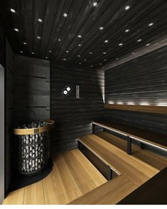 Sauna Design, Home Gym Design, Dream Home Design, Küchen Design, House Design, Sauna House, Sauna Room, Gym Interior, Bathroom Interior