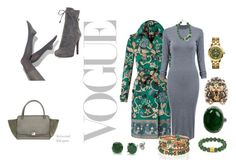 """""""Green and Grey"""" by deirdreschoice on Polyvore featuring Simply Vera, Burberry, Prada, BERRICLE, White House Black Market, Gucci, Tory Burch and SHOUROUK"""