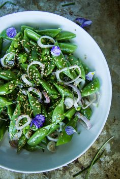 Sesame Honey Snap Pea Salad