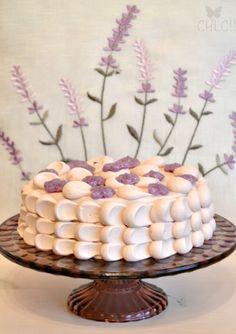 tarta de violetas