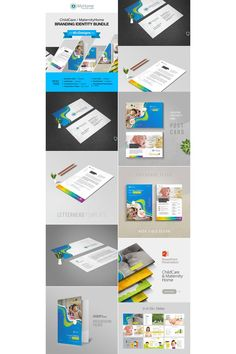 Child Care Maternity Home Corporate Identity Template Letterhead Design, Stationery Design, Presentation Folder, Presentation Design, Business Flyer, Business Card Design, Corporate Identity Design, Folder Design, Slide Design