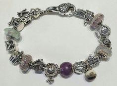 Bracciale e chiusura Redbalifrog, beads in argento Ohm beads, vetri Glass bonbon,  compatibile con pandora, trollbeads ecc Facebook: pianeta beads www.gold-jewels-italy.com