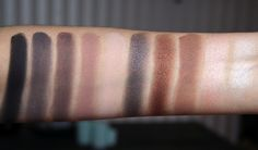 inglot eyeshadow 391, 376, 378, 344, 354, 434, 421, 357, 397, 395 swatch