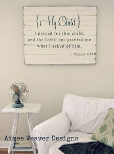 {My Child} barn door sign by Aimee Weaver. Love this!