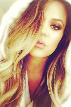 Hair crush, Khloe Kardashian ombré